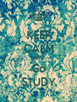 KEEP CALM AND Go STUDY - Personalised Poster large