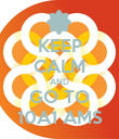 KEEP CALM AND GO TO 10A1 AMS - Personalised Poster large