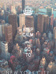 KEEP CALM AND GO  TO - Personalised Poster large