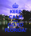 KEEP CALM AND GO TO FLORIDA! - Personalised Poster large