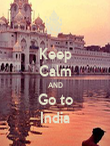 Keep Calm AND Go to India - Personalised Poster large
