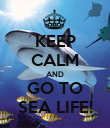 KEEP CALM AND GO TO SEA LIFE! - Personalised Poster large