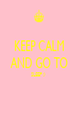 KEEP CALM AND GO TO SLEEP :)    - Personalised Poster large