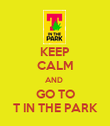 KEEP CALM AND  GO TO T IN THE PARK - Personalised Poster large