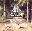 KEEP CALM AND GO TO THE FOREST - Personalised Poster large
