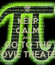KEEP CALM AND GO TO THE MOVIE THEATER - Personalised Poster large