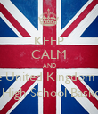 KEEP CALM AND Go to the United Kingdom Tea Party Tea Party 6th September High School Basketball Court @ 1:30 -2:30 - Personalised Poster large