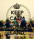 KEEP CALM AND GO TO TOMORROW- LAND - Personalised Poster large