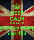 KEEP CALM AND GO TO  ysgol gymraeg caerffili - Personalised Poster large