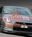 KEEP CALM AND GODZILLA  - Personalised Poster large