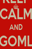 KEEP CALM AND GOML  - Personalised Poster large