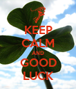 KEEP CALM AND GOOD LUCK - Personalised Poster large