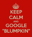 "KEEP CALM AND GOOGLE ""BLUMPKIN"" - Personalised Poster large"