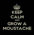 KEEP CALM AND GROW A MOUSTACHE - Personalised Poster large