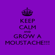 KEEP CALM AND GROW A MOUSTACHE!!! - Personalised Poster large