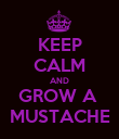 KEEP CALM AND GROW A  MUSTACHE - Personalised Poster large