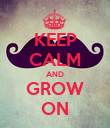KEEP CALM AND GROW ON - Personalised Poster large