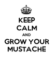 KEEP CALM AND GROW YOUR MUSTACHE - Personalised Poster large