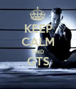 KEEP CALM AND GTS  - Personalised Poster large