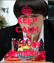 KEEP CALM AND H-BDay ShinDong - Personalised Poster large