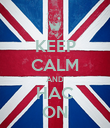 KEEP CALM AND HAC ON - Personalised Poster large