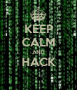 KEEP CALM AND HACK  - Personalised Poster large
