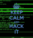 KEEP CALM AND HACK IT - Personalised Poster large