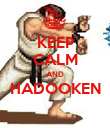 KEEP CALM AND HADOOKEN  - Personalised Poster large