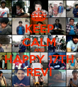 KEEP CALM AND HAPPY 17TH REVI - Personalised Poster large