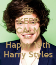 KEEP CALM AND Happy 19th Harry Styles - Personalised Poster large