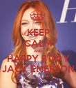 KEEP CALM AND HAPPY B'DAY JACK EMERSON - Personalised Poster large