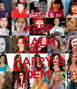 KEEP CALM AND HAPPY-B DEMI - Personalised Poster large