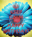 KEEP CALM AND HAPPY BIRTHDAY! - Personalised Poster large