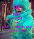 KEEP CALM AND HAPPY BIRTHDAY BABY LUX - Personalised Poster large