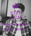 KEEP CALM AND happy birthday justin bieber - Personalised Poster large