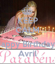KEEP CALM AND Happy Birthdayl  Avril - Personalised Poster large