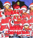 KEEP CALM AND happy christmas - Personalised Poster large