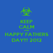 KEEP CALM AND HAPPY FATHERS DAY!!! 2012 - Personalised Poster large