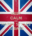 KEEP CALM AND HARRY STYLES IS BABE - Personalised Poster large