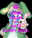 KEEP CALM AND HATE ANGRY BIRDS  - Personalised Poster large