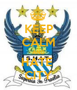 KEEP CALM AND HATE  CITY - Personalised Poster large