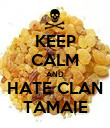 KEEP CALM AND HATE CLAN TAMAIE - Personalised Poster large