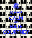 KEEP CALM AND HATE COURTNEY - Personalised Poster large