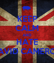 KEEP CALM AND HATE DAVID CAMERON - Personalised Poster large