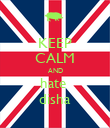 KEEP CALM AND hate  disha - Personalised Poster large