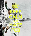 KEEP CALM AND HATE FCB - Personalised Poster large