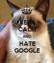 KEEP CALM AND HATE GOOGLE - Personalised Poster large