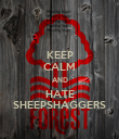 KEEP CALM AND HATE SHEEPSHAGGERS - Personalised Poster large
