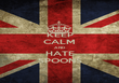 KEEP CALM AND HATE SPOONS - Personalised Poster large