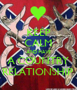 KEEP CALM AND HAVE A COUNTRY RELATIONSHIP  - Personalised Poster large